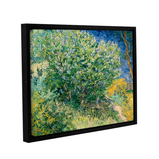 Brushstone Lilacs Gallery Wrapped Floater-Framed Canvas Wall Art