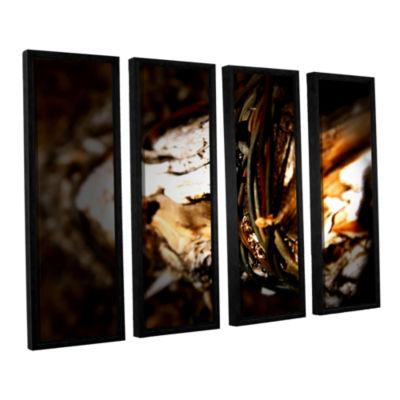 Brushstone Mend 4-pc. Floater Framed Canvas Wall Art