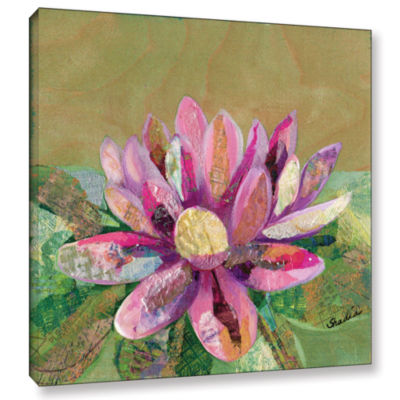 Brushstone Lotus Series II - 2 Gallery Wrapped Canvas Wall Art
