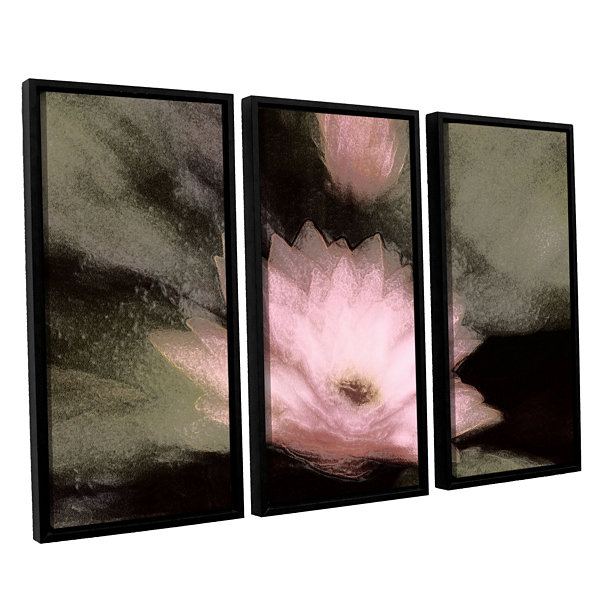 Brushstone Lily And Bud 3-pc. Floater Framed Canvas Wall Art