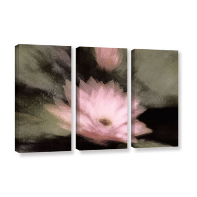 Brushstone Lily And Bud 3-pc. Gallery Wrapped Canvas Wall Art