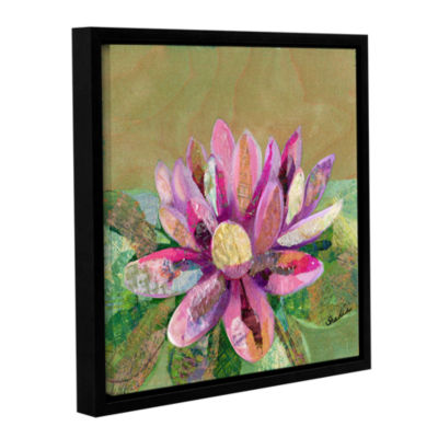 Brushstone Lotus Series II - 2 Gallery Wrapped Floater-Framed Canvas Wall Art