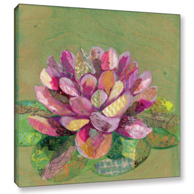 Brushstone Lotus Series II - 3 Gallery Wrapped Canvas Wall Art