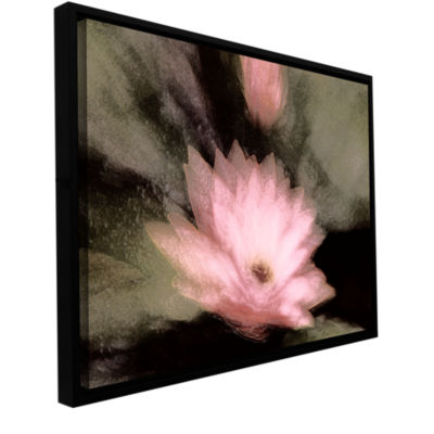 Brushstone Lily And Bud Gallery Wrapped Floater-Framed Canvas Wall Art
