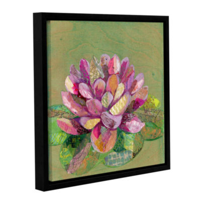 Brushstone Lotus Series II - 3 Gallery Wrapped Floater-Framed Canvas Wall Art