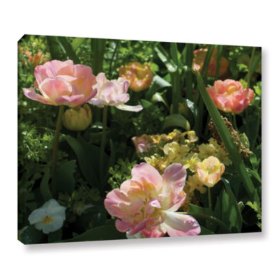 Brushstone Love (Flowers) Gallery Wrapped Canvas Wall Art
