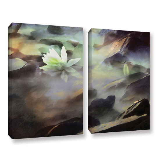 Brushstone Lily In Rocks 2-pc. Gallery Wrapped Canvas Wall Art
