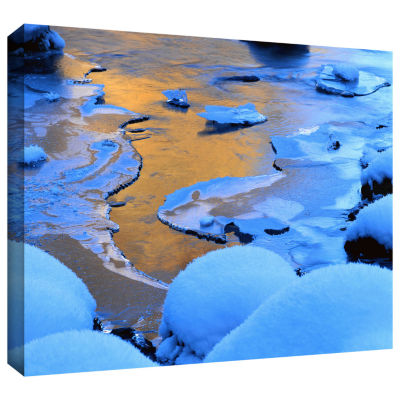 Brushstone Merced River Sunset (Yosemite) Gallery Wrapped Canvas Wall Art