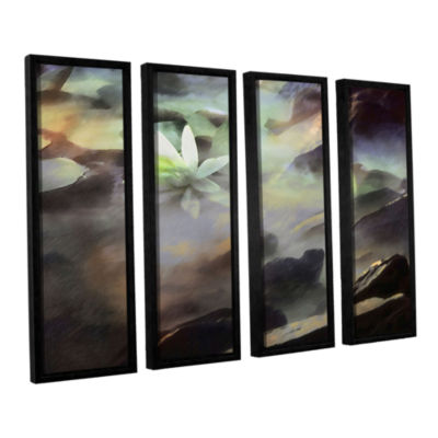 Brushstone Lily In Rocks 4-pc. Floater Framed Canvas Wall Art