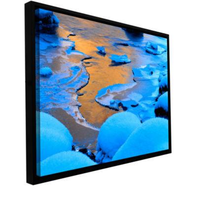 Brushstone Merced River Sunset (Yosemite) GalleryWrapped Floater-Framed Canvas Wall Art