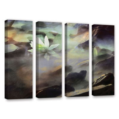 Brushstone Lily In Rocks 4-pc. Gallery Wrapped Canvas Wall Art
