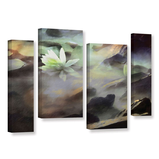 Brushstone Lily In Rocks 4-pc. Gallery Wrapped Staggered Canvas Wall Art