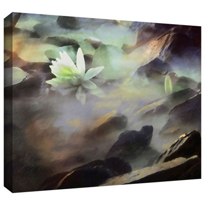 Brushstone Lily In Rocks Gallery Wrapped Canvas Wall Art