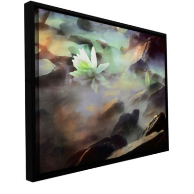 Brushstone Lily In Rocks Gallery Wrapped Floater-Framed Canvas Wall Art