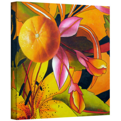 Brushstone Love Of Orange Gallery Wrapped Canvas Wall Art
