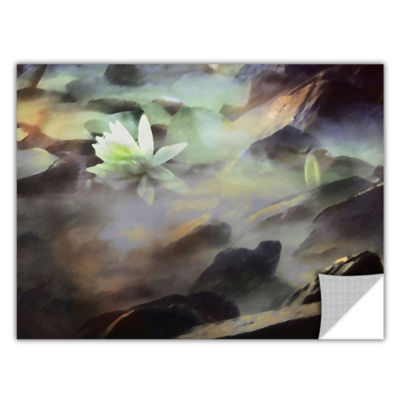Brushstone Lily In Rocks Removable Wall Decal