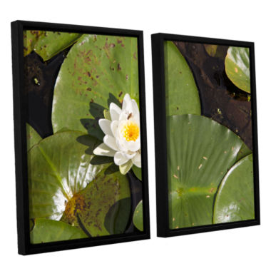 Brushstone Lily Pad 2-pc. Floater Framed Canvas Wall Art