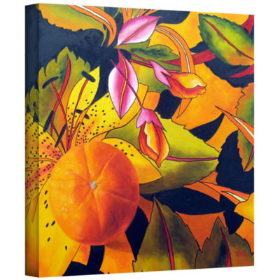 Brushstone Love That Orange Gallery Wrapped CanvasWall Art