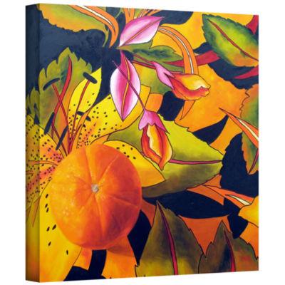 Brushstone Love That Orange Gallery Wrapped CanvasWall Art