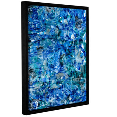 Brushstone Mermaids (046) Gallery Wrapped Floater-Framed Canvas Wall Art