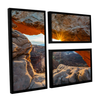 Brushstone Mesa Arch Sunburst 2 3-pc. Flag FloaterFramed Canvas Wall Art