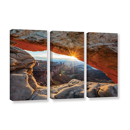 Brushstone Mesa Arch Sunburst 2 3-pc. Gallery Wrapped Canvas Wall Art