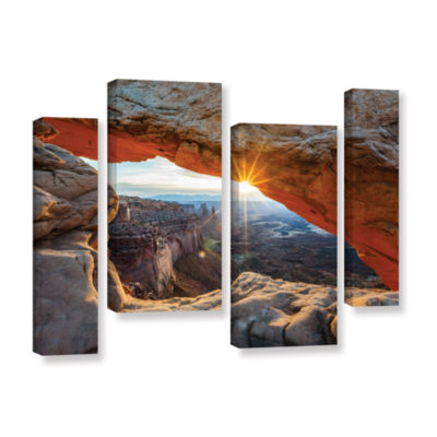 Brushstone Mesa Arch Sunburst 2 4-pc. Gallery Wrapped Staggered Canvas Wall Art