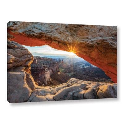 Brushstone Mesa Arch Sunburst 2 Gallery Wrapped Canvas Wall Art