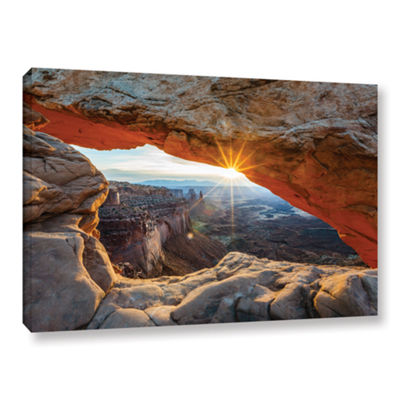 Brushstone Mesa Arch Sunburst 2 Gallery Wrapped Canvas Wall Art