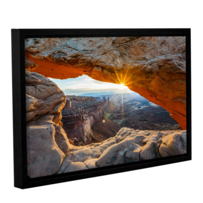 Brushstone Mesa Arch Sunburst 2 Gallery Wrapped Floater-Framed Canvas Wall Art