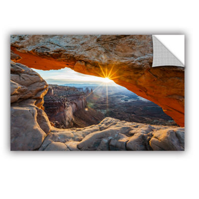 Brushstone Mesa Arch Sunburst 2 Removable Wall Decal