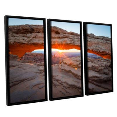 Brushstone Mesa Arch Sunburst 3 3-pc. Floater Framed Canvas Wall Art