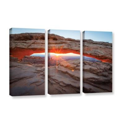 Brushstone Mesa Arch Sunburst 3 3-pc. Gallery Wrapped Canvas Wall Art