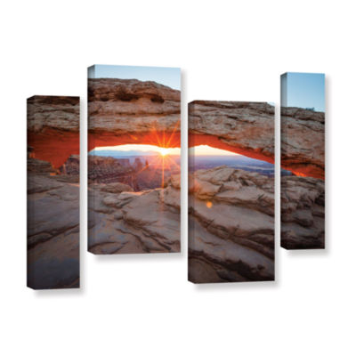 Brushstone Mesa Arch Sunburst 3 4-pc. Gallery Wrapped Staggered Canvas Wall Art