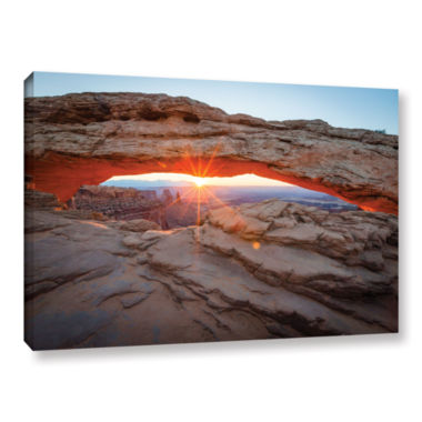 Brushstone Mesa Arch Sunburst 3 Gallery Wrapped Canvas Wall Art