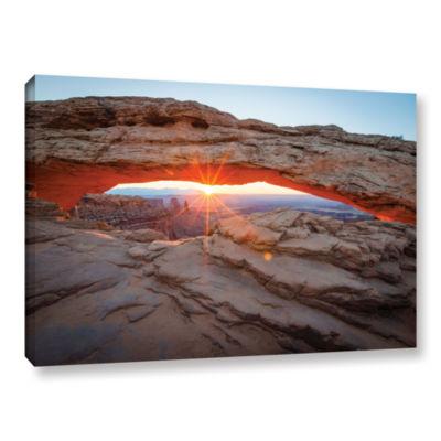 Brushstone Mesa Arch Sunburst 3 Gallery Wrapped Canvas Wall Art