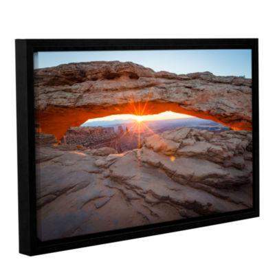 Brushstone Mesa Arch Sunburst 3 Gallery Wrapped Floater-Framed Canvas Wall Art