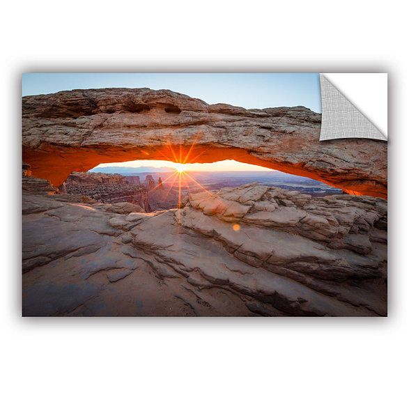 Brushstone Mesa Arch Sunburst 3 Removable Wall Decal