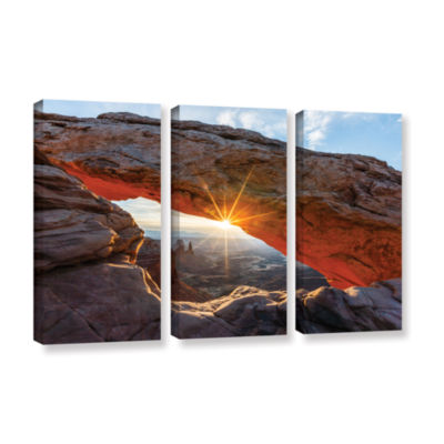 Brushstone Mesa Arch Sunburst 3-pc. Gallery Wrapped Canvas Wall Art