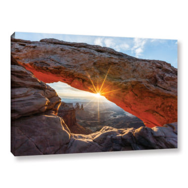 Brushstone Mesa Arch Sunburst Gallery Wrapped Canvas Wall Art