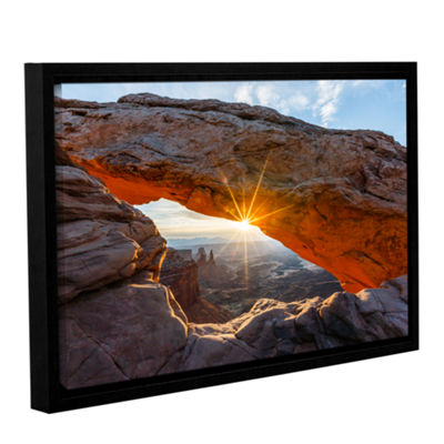 Brushstone Mesa Arch Sunburst Gallery Wrapped Floater-Framed Canvas Wall Art