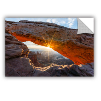 Brushstone Mesa Arch Sunburst Removable Wall Decal