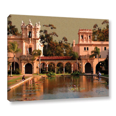 Brushstone Lily Pond Balboa Park Gallery Wrapped Canvas Wall Art