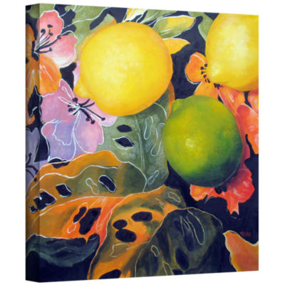 Brushstone Limes And Lemons Gallery Wrapped Canvas Wall Art