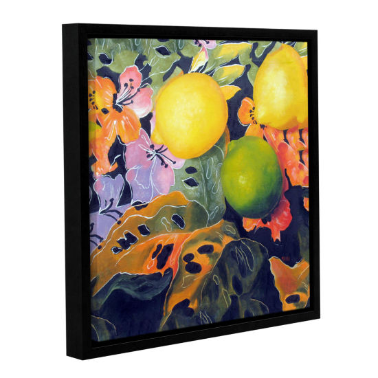 Brushstone Limes And Lemons Gallery Wrapped Floater-Framed Canvas Wall Art