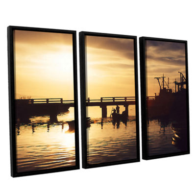 Brushstone Mazatlan Morning 3-pc. Floater Framed Canvas Wall Art