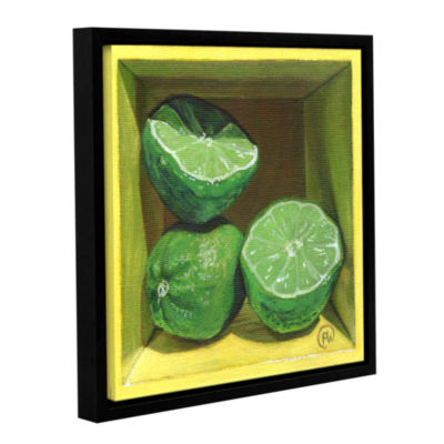 Brushstone Limey Gallery Wrapped Floater-Framed Canvas Wall Art