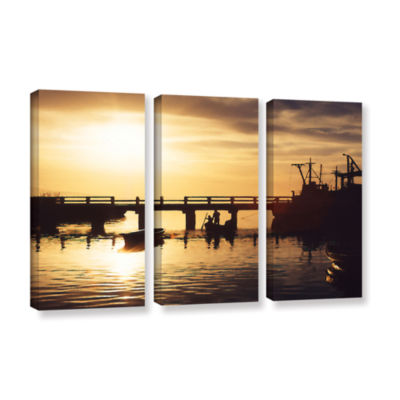 Brushstone Mazatlan Morning 3-pc. Gallery WrappedCanvas Wall Art