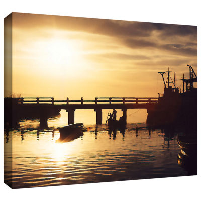 Brushstone Mazatlan Morning Gallery Wrapped CanvasWall Art