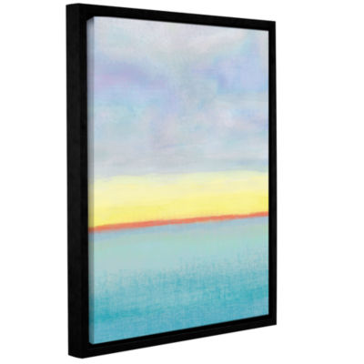 Brushstone Meadow 1 Gallery Wrapped Floater-FramedCanvas Wall Art
